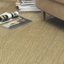 Loop pile carpet / woven / natural fiber / commercial