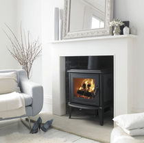 Wood heating stove / traditional / cast iron