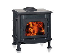 Wood heating stove / traditional / stone