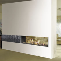 Gas fireplace / contemporary / original design / traditional