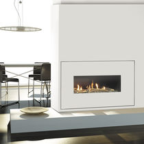 Gas fireplace / contemporary / original design / closed