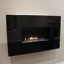 Gas fireplace / contemporary / original design / open hearth