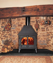 Multi-fuel fireplace / traditional / closed hearth / floor-mounted