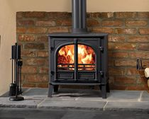 Wood boiler stove / multi-fuel / traditional / metal