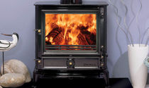 Wood heating stove / multi-fuel / traditional / stainless steel