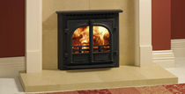Multi-fuel fireplace / traditional / closed hearth / free-standing