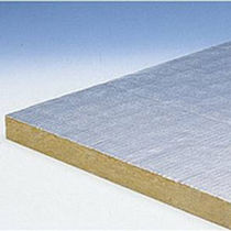Thermal-acoustic insulation / stone wool / for HVAC / rigid panel