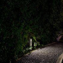 Garden bollard light / contemporary / stainless steel / extruded aluminum