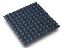 Wall-mounted sound absorption panel / foam / pyramid type / not specified