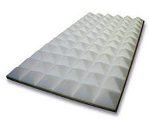 Foam sound absorption panel / wall-mounted / pyramid type