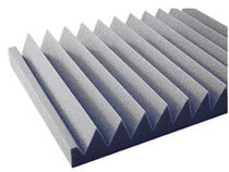 Wall-mounted sound absorption panel / foam / design / not specified