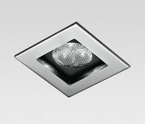 Recessed downlight / outdoor / LED / square