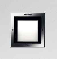 Recessed wall light fixture / LED / rectangular / square