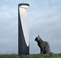 Garden bollard light / contemporary / aluminum / cast aluminum