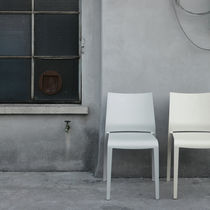 Contemporary chair / stackable / polypropylene / garden