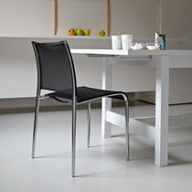 Contemporary chair / stackable / metal / standard base