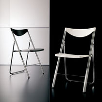 Contemporary chair / stackable / folding / metal