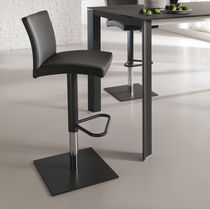 Contemporary bar chair / upholstered / swivel / adjustable-height