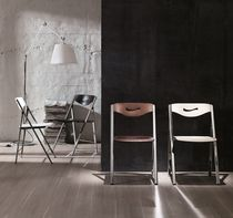 Contemporary chair / folding / wooden / metal