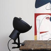 Table lamp / original design / aluminum / glass