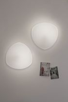 Contemporary ceiling light / glass / metal / LED