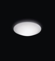 Contemporary ceiling light / round / glass / aluminum