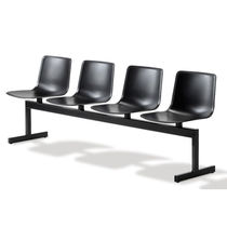 Polypropylene beam chairs / steel / 3-seater / 4-seater