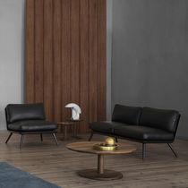 Contemporary coffee table / oak / ash / round