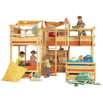 Bunk bed / contemporary / wooden / with drawer