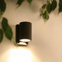 Contemporary wall light / garden / brass / metal