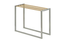 1-bar towel rack / more than 3 bars / floor-standing / stainless steel