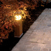 Urban bollard light / contemporary / steel / LED