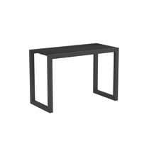 Contemporary side table / metal / teak / ceramic