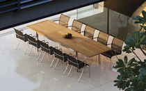 Rectangular table / garden / contemporary / ceramic