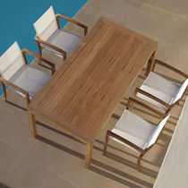 Rectangular table / garden / contemporary / teak