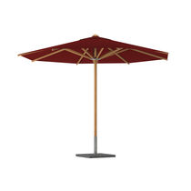 Aluminum patio umbrella / stainless steel / teak