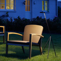 Floor-standing lamp / contemporary / brass / garden