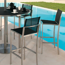 Bar chair / contemporary / stainless steel / Batyline®