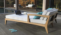 Contemporary daybed / teak / garden