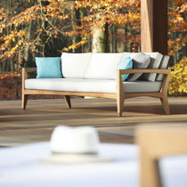 Modular sofa / contemporary / outdoor / teak