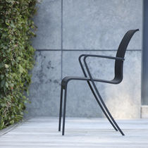 Contemporary chair / with armrests / Batyline® / metal