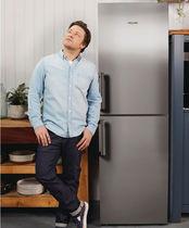 Double door refrigerator / gray / energy-efficient