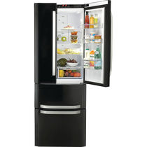 Residential refrigerator-freezer / American / with drawer / black