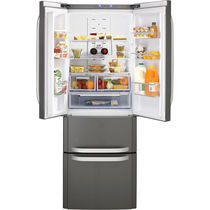 Residential refrigerator-freezer / with drawer / gray / bottom freezer