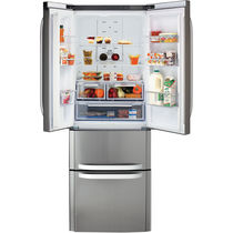 Residential refrigerator-freezer / American / with drawer / stainless steel