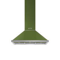 Wall-mounted range hood / with built-in lighting