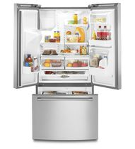 Residential refrigerator-freezer / American / stainless steel / with water dispenser