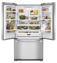 Residential refrigerator-freezer / American / stainless steel / energy-efficient