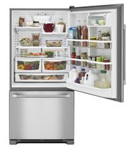 Residential refrigerator-freezer / with drawer / stainless steel / energy-efficient