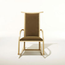 Traditional armchair / wooden / fabric / commercial